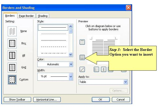 Common problems faced when doing documentation and how to for Table header